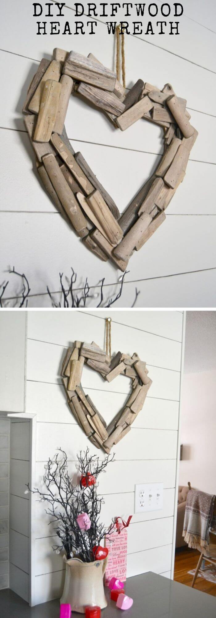 The lovely wood heart projects