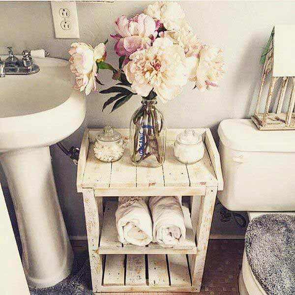 Vintage bathroom wooden furniture