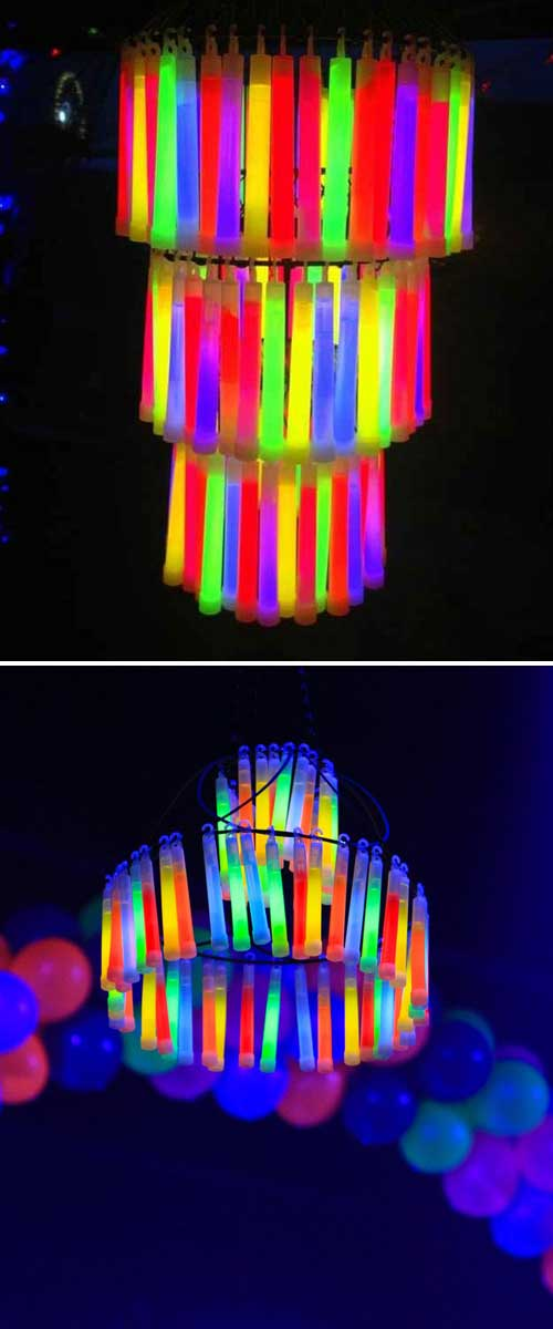 Glowing a chandelier