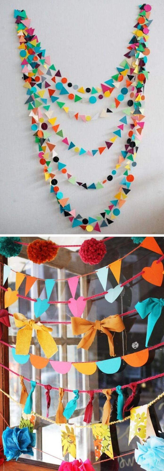 Garlands as room dividers