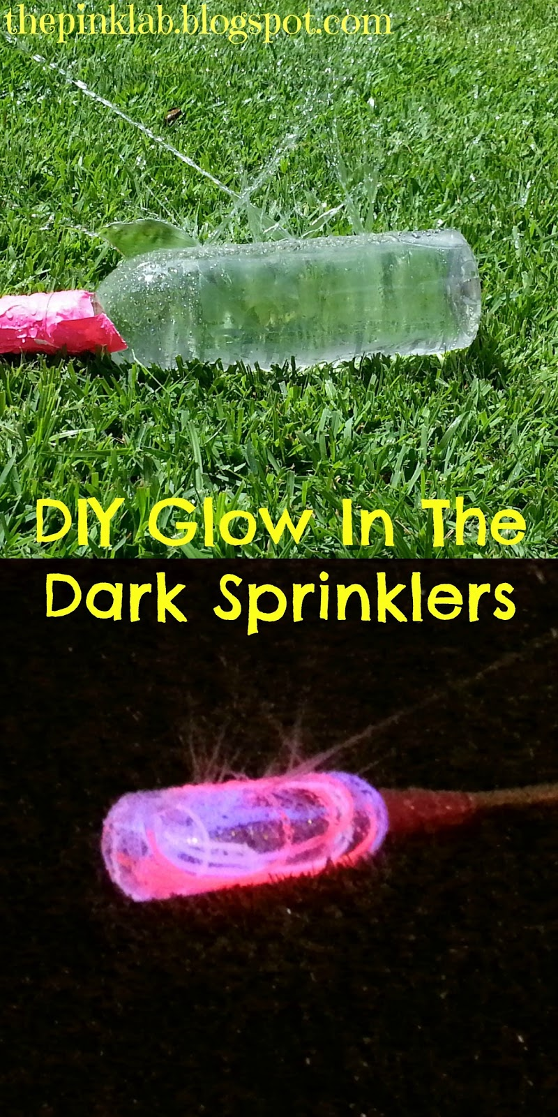 make glow in dark sprinklers