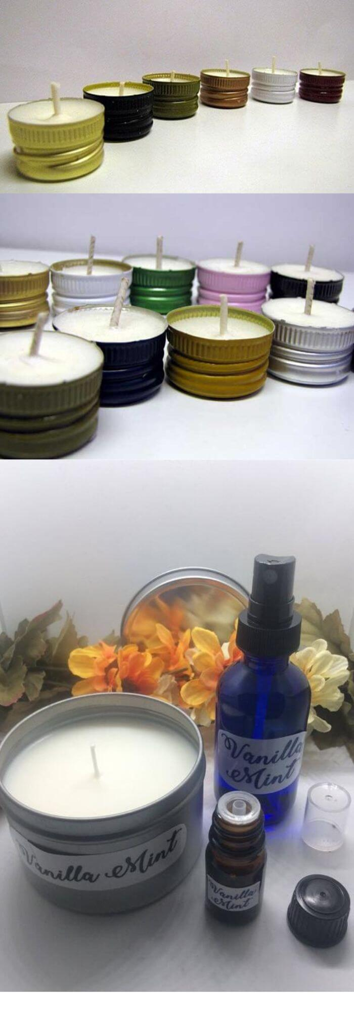 Twist off Wine Caps for Candles