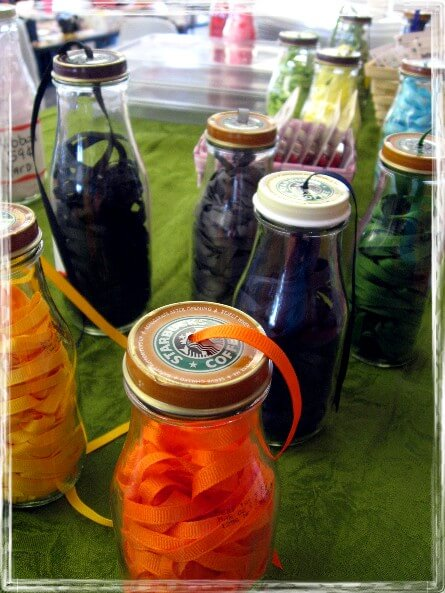 Glass jars for storage