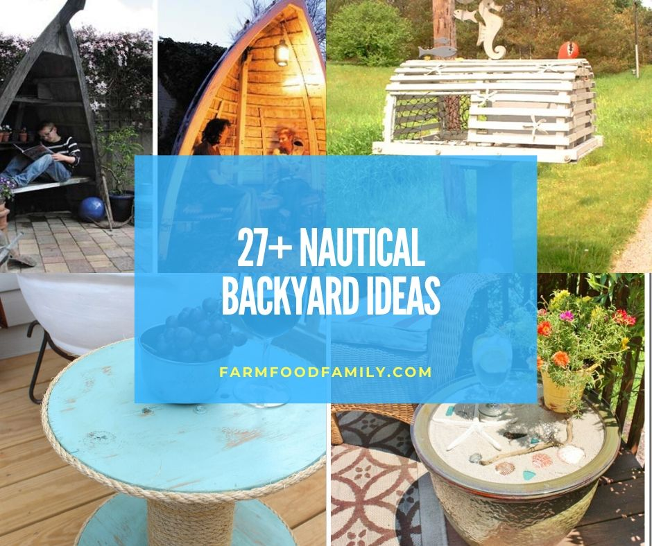27+ Awesome Nautical Backyard Ideas - Beach-Style Outdoor ... on Nautical Patio Ideas  id=37101