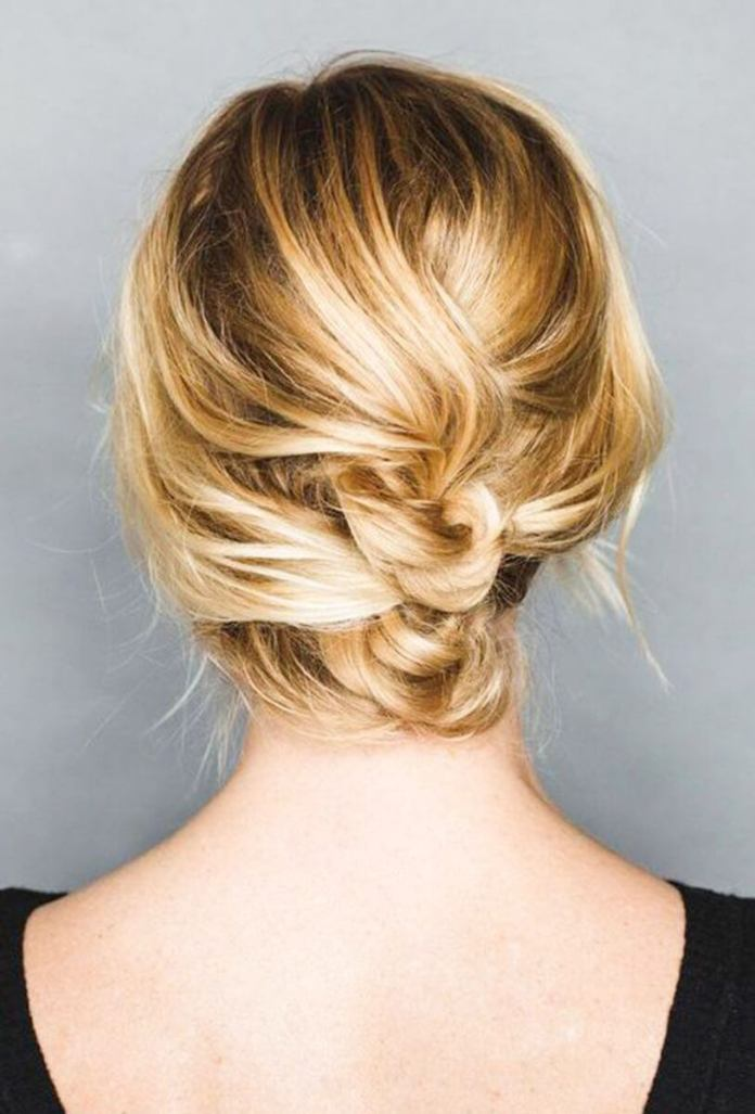 Messy Twisted Bun Hairstyle