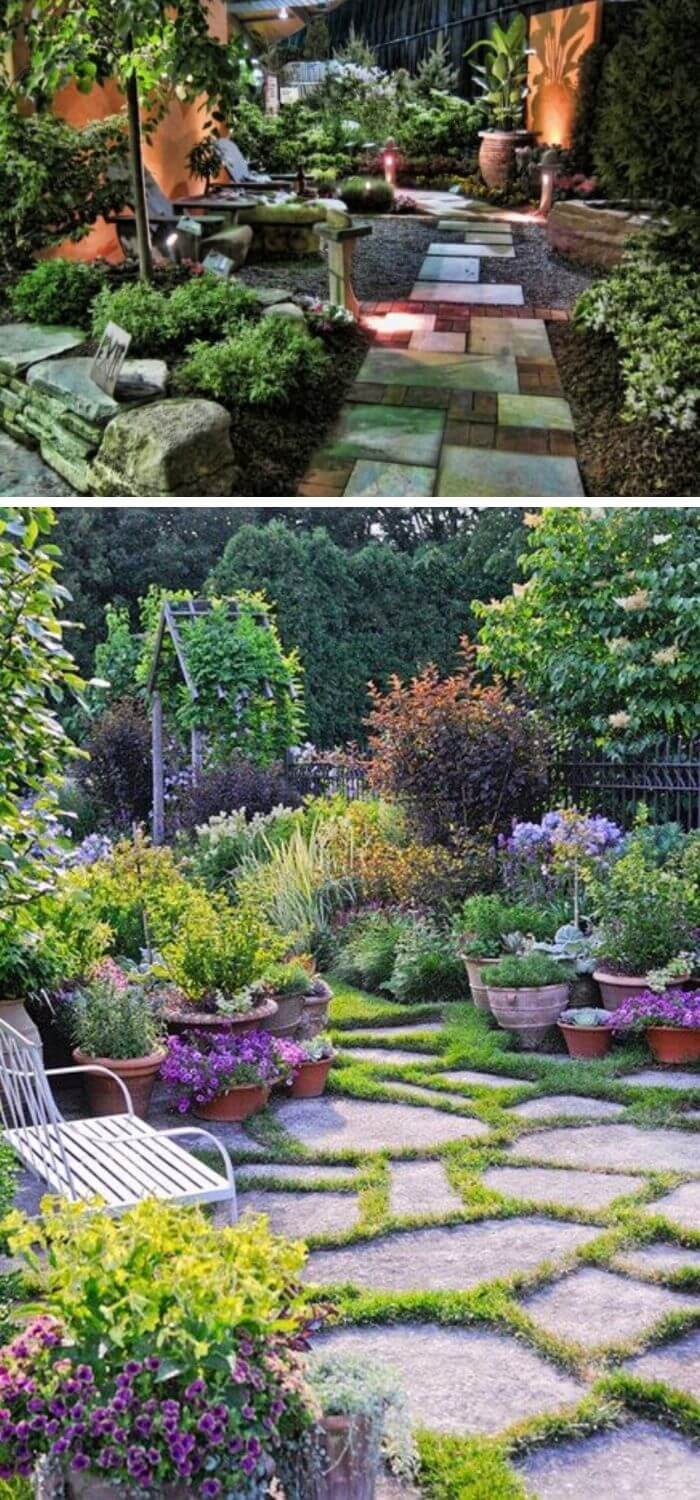 A Backyard with a beautiful Garden-scape