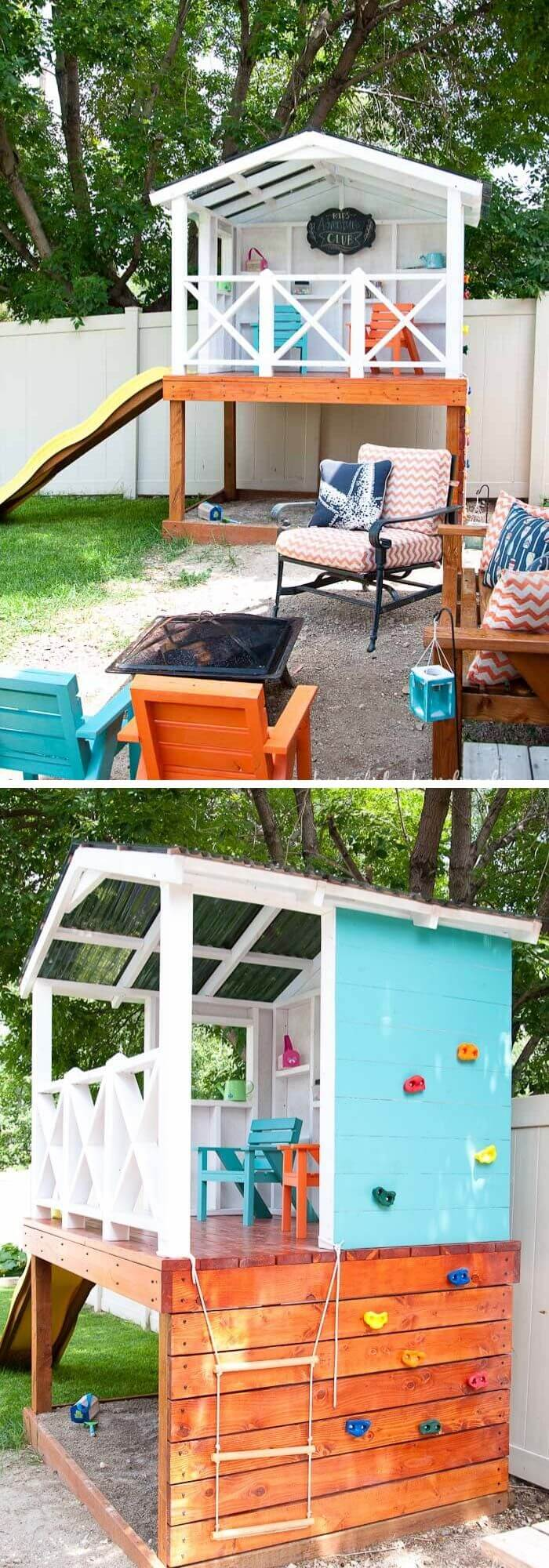 Backyard DIY Playhouse