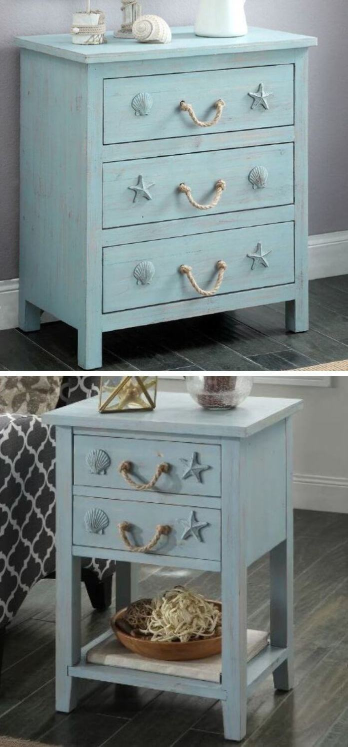 Paint the furniture blue