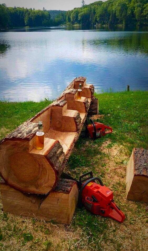 Another idea of a log bench