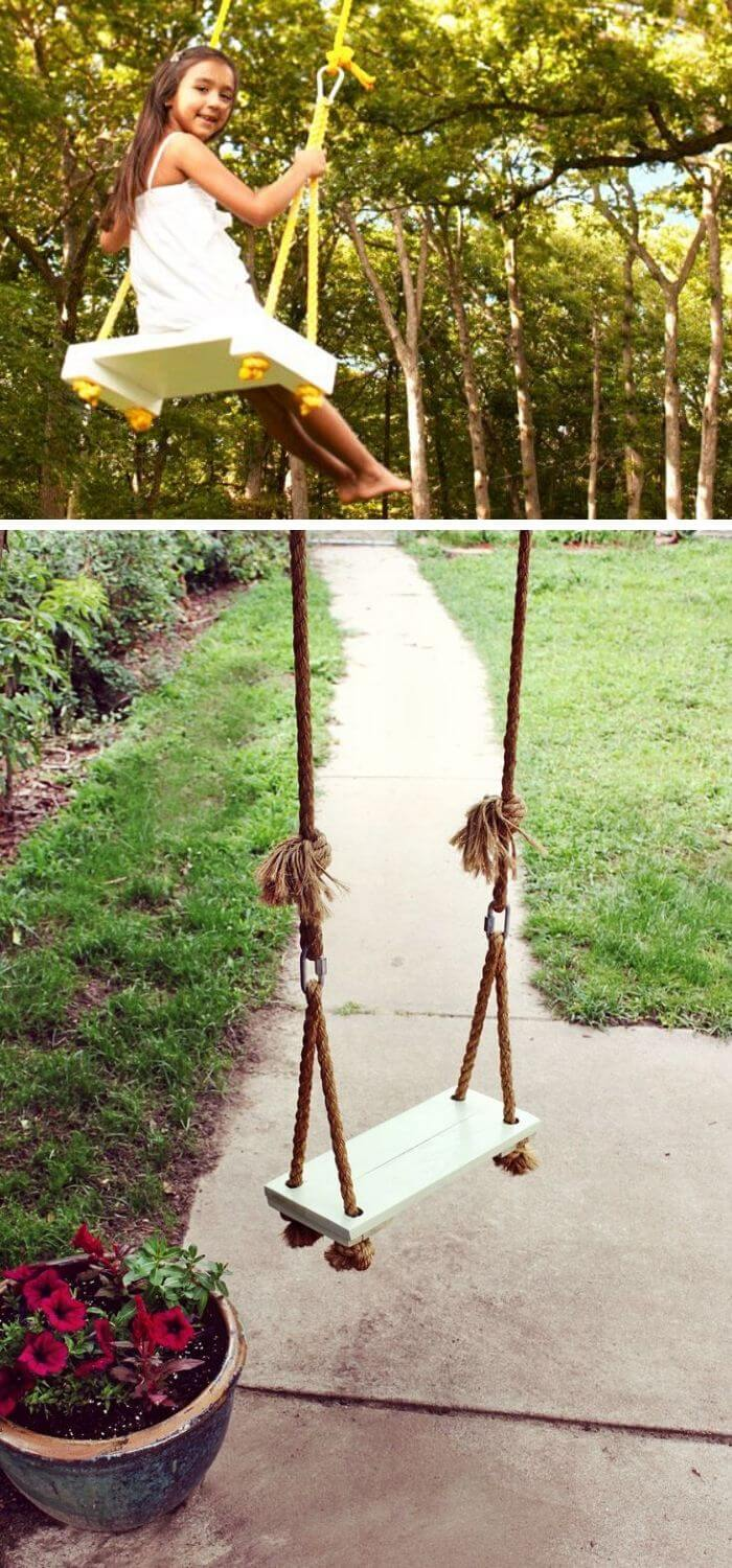 Backyard DIY Rope Swing