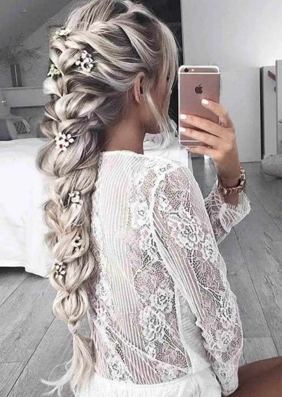 Queen French Braid Style