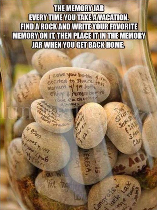 Rock in memory jar