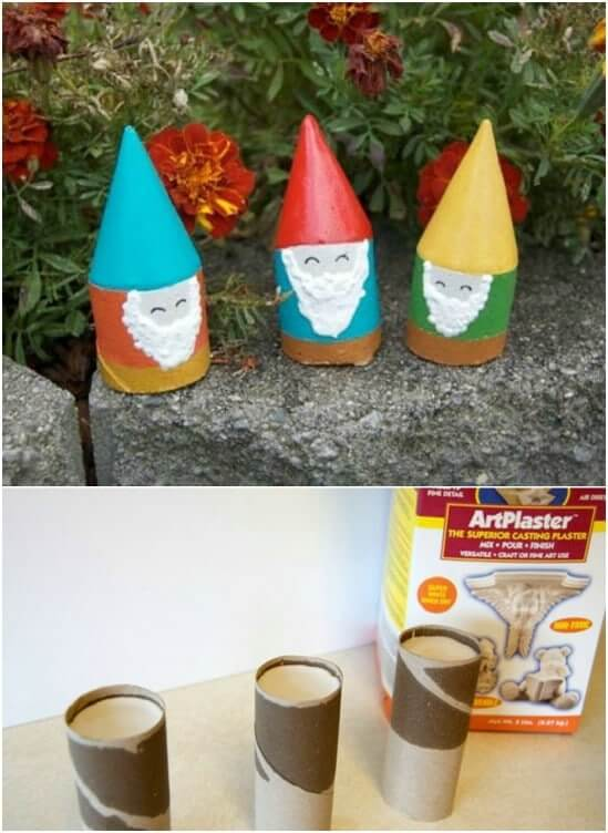 DIY mini garden gnomes