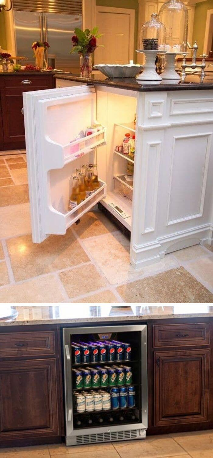Create a mini fridge in your kitchen for beer and other stuff