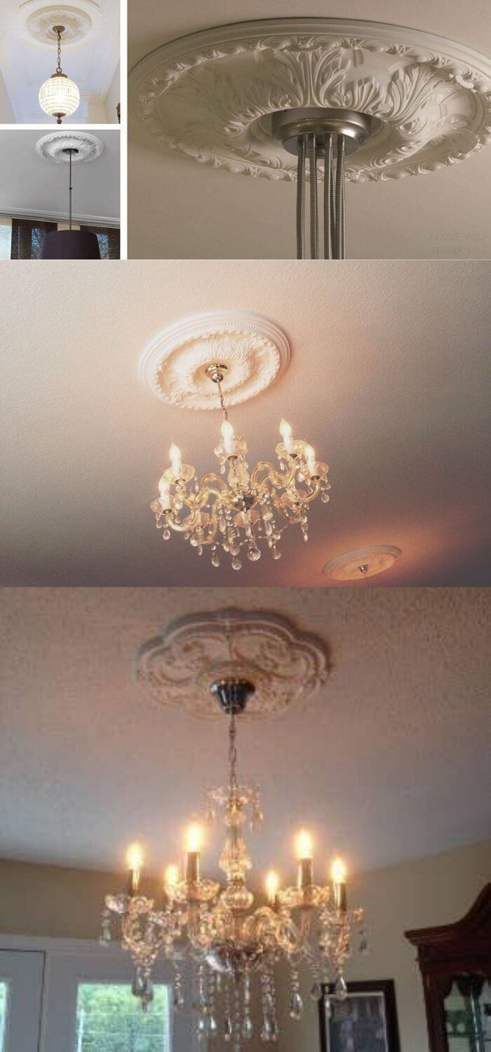 Add decorative medallion to your ceiling fan or light fixtures