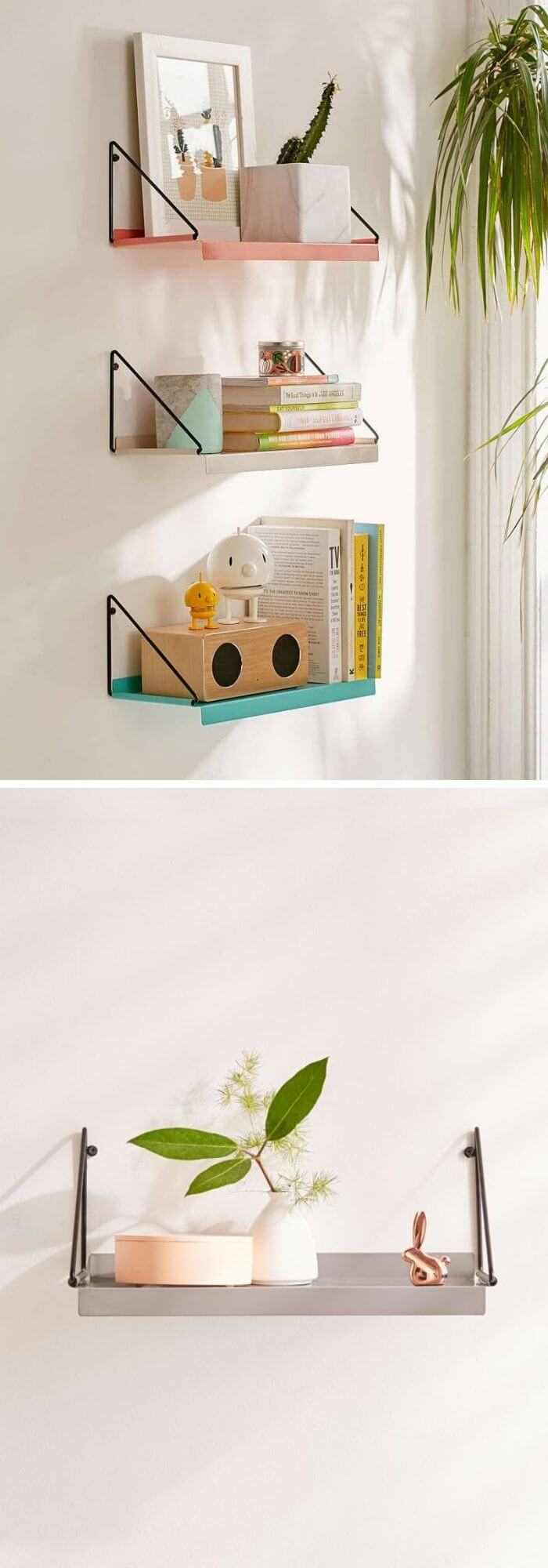 Organize your books by color, show off your cute office supplies