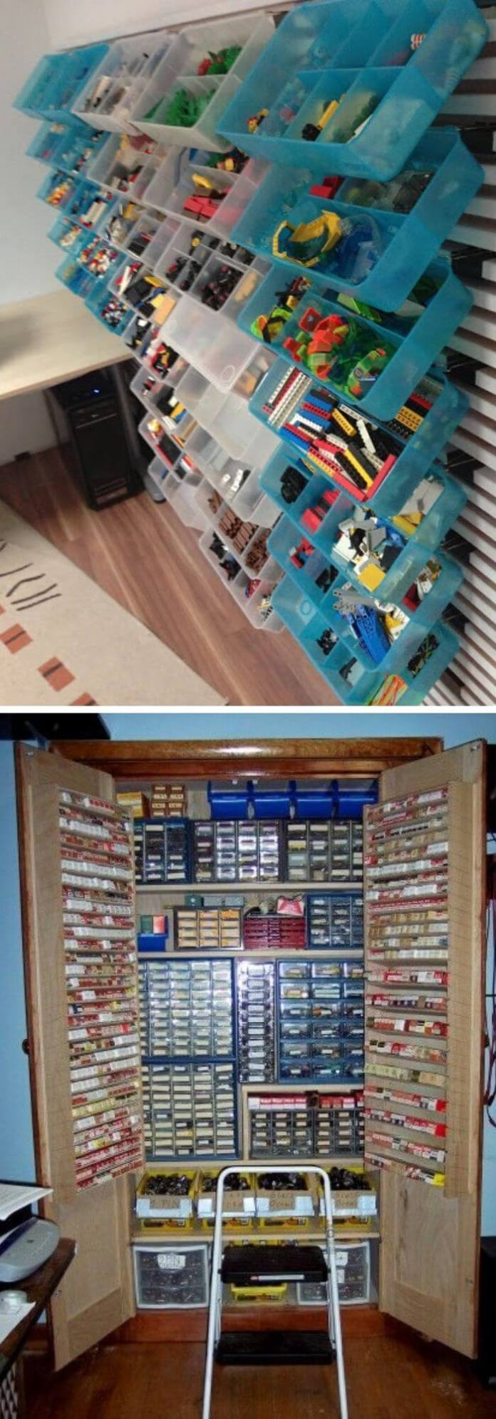 Wall storage for the Lego loving excited kids