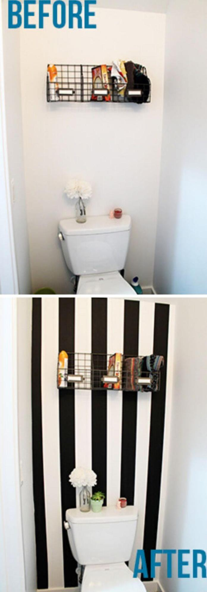 With a few yards of washi tape you create an accent wall