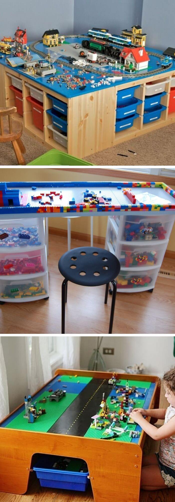 The latest technique is the Lego table