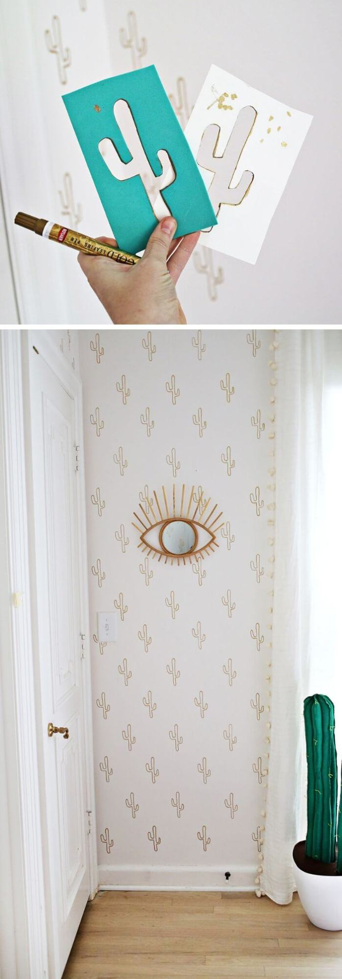 Use your pen and stencil your wall to look good