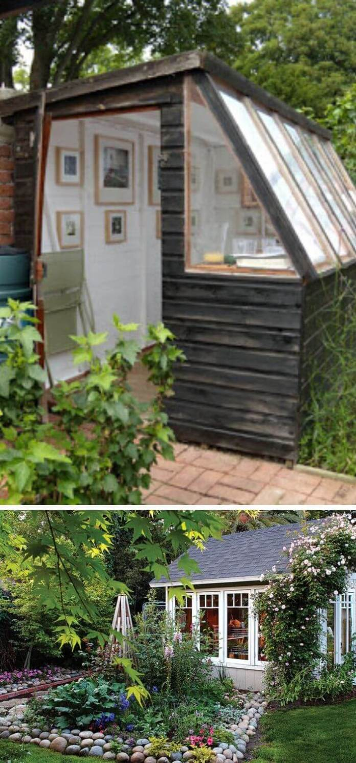 Customize your garden into a charming artist's shed