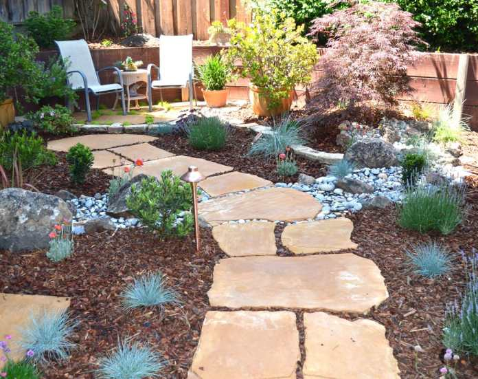 Arizona backyard ideas with garden path