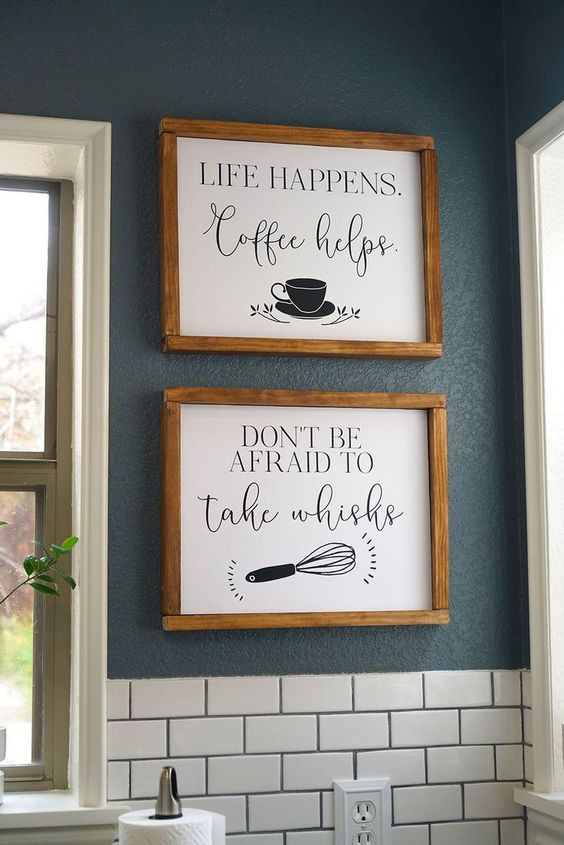 Farmhouse kitchen wall paintings