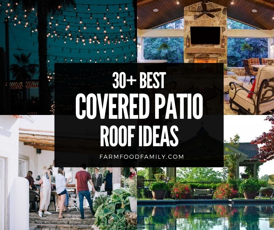 covered patio roof ideas designs