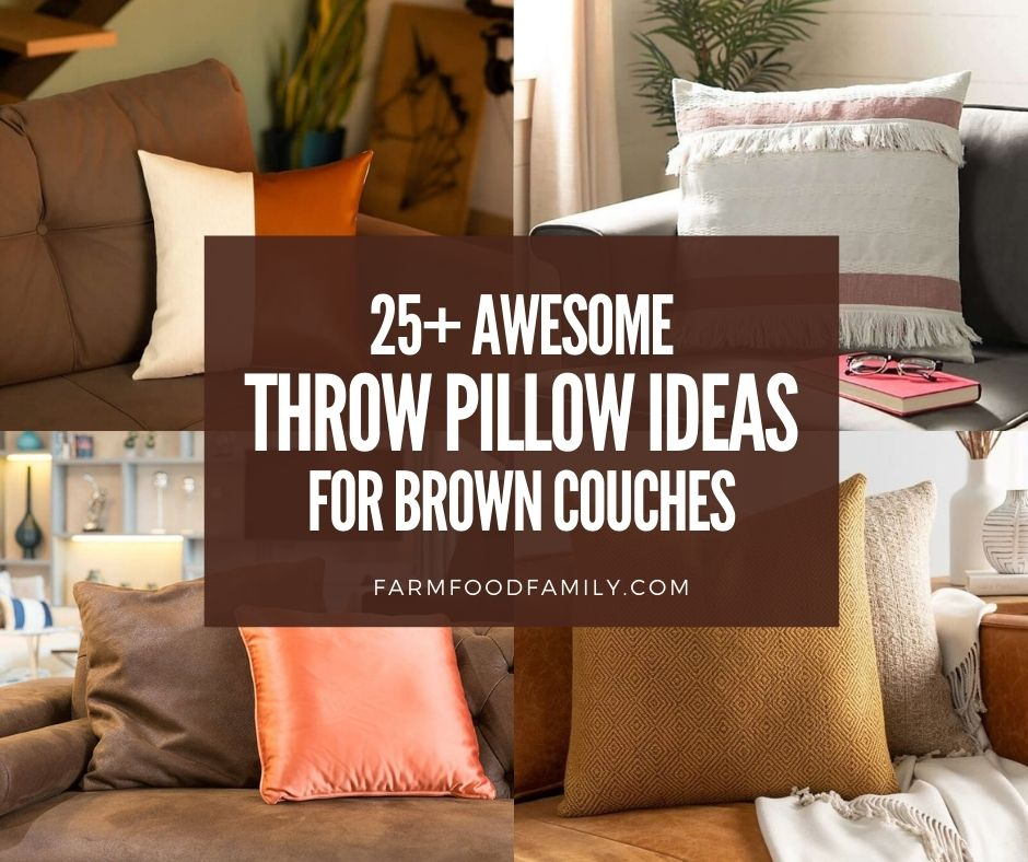 what color throw pillows go best with a
