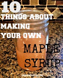 10 Things About Making Maple Syrup