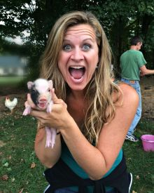 Newborn Potbelly Piglets!!!!!  The first 4 Days….