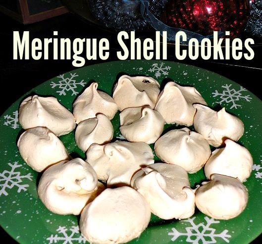 meringue shell cookies