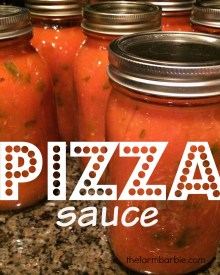 Making & Canning Homemade Pizza Sauce