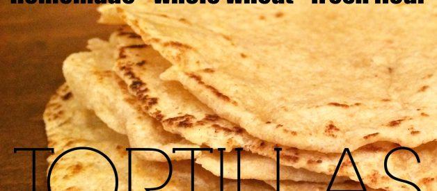 Homemade Flour Tortillas (with Fresh Flour)