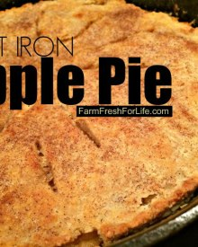 Cast Iron Apple Pie- Naturally Sweetened with Maple Syrup – No Sugar!