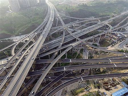 Crazy Asian overpass intersection ADHD train of though