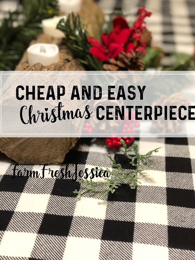 Cheap and easy diy Christmas centerpiece