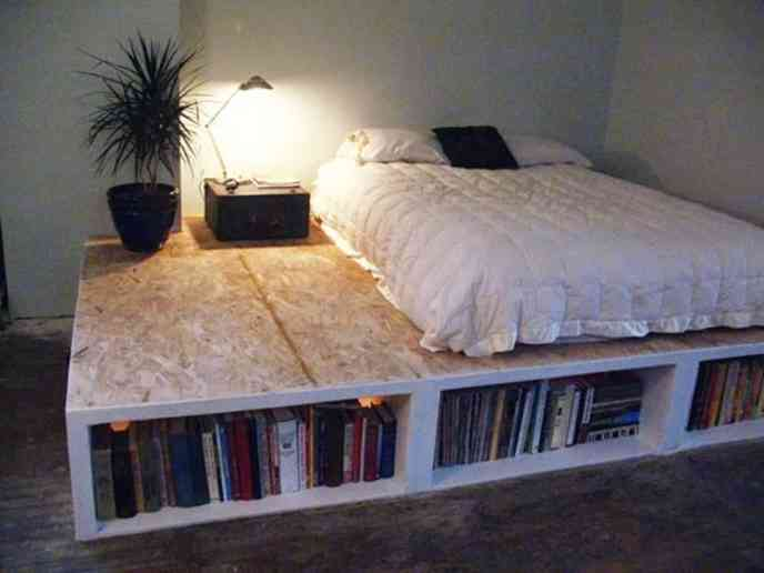 queen size pallet bed frame diy