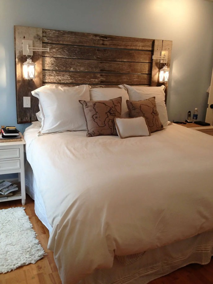 rustic farmhouse bedroom headboard
