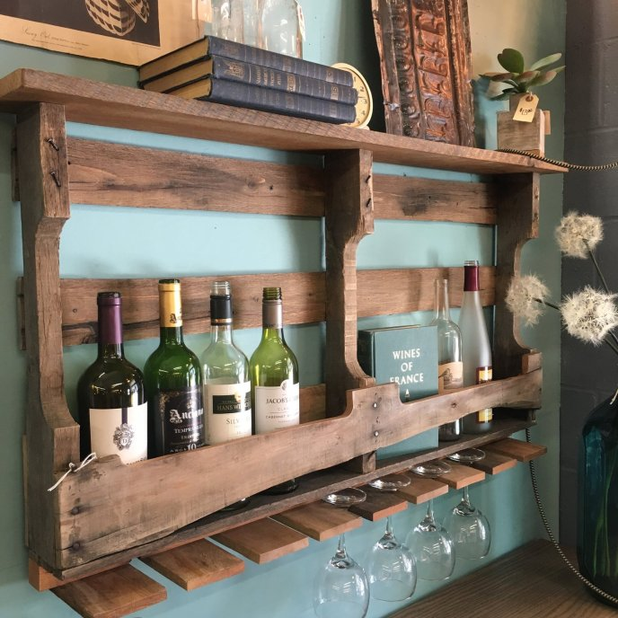 how to make a wine rack out of a pallet