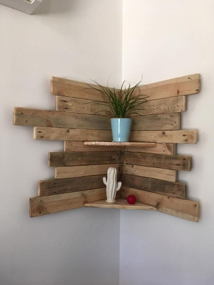 how to make a free standing pallet wall