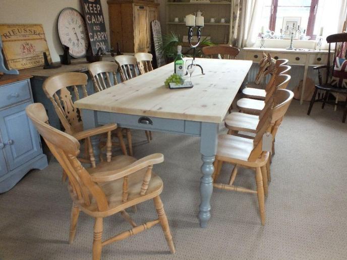 small farmhouse dining table set