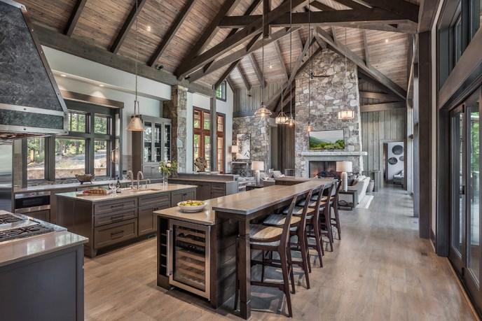 open rustic elegant kitchen
