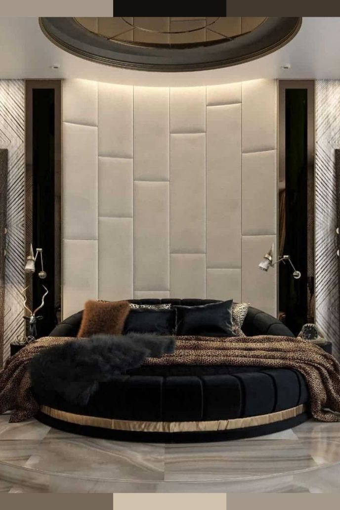 royal round bed design ideas