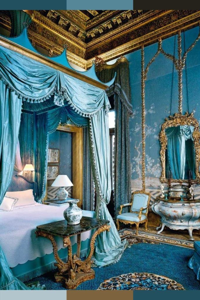 royal blue bedroom decorating ideas