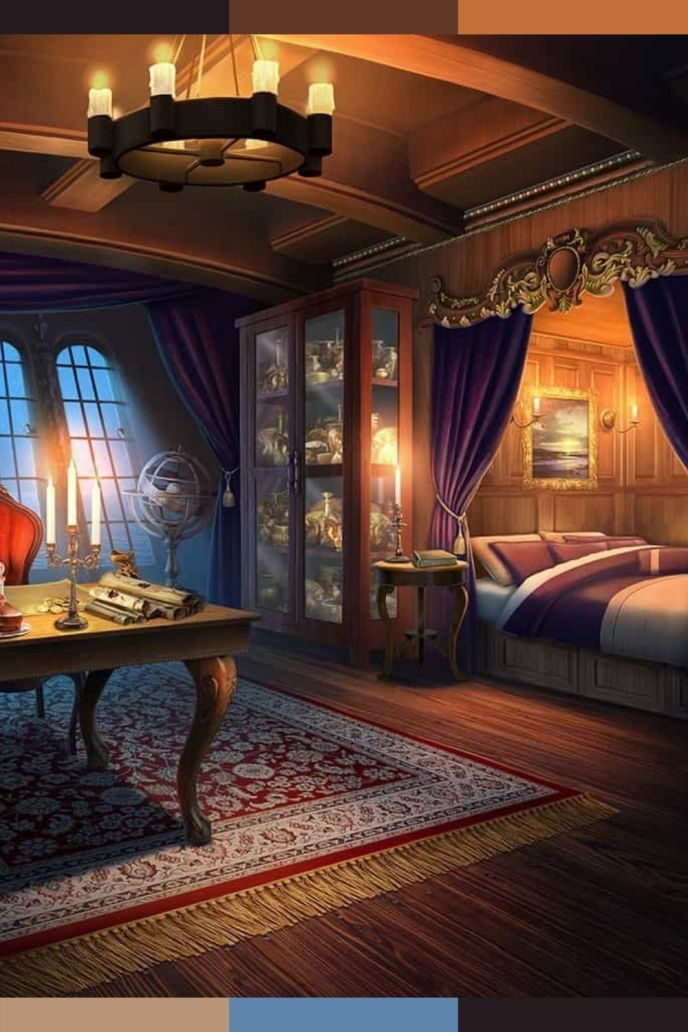 fantasy royal bedroom