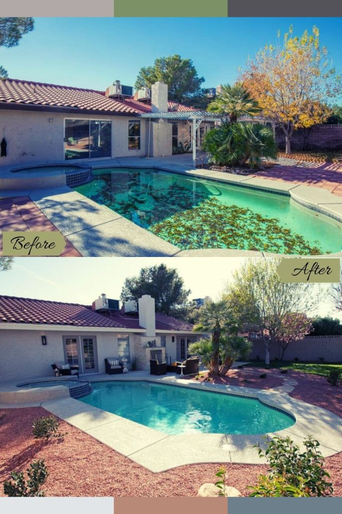 pool remodel before and after photos