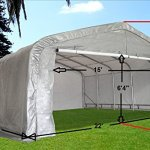 20×22-Carport-GreyWhite-Waterproof-Storage-Canopy-Shed-Car-Truck-Boat-Garage-By-DELTA-Canopies-0-0