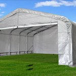 20×22-Carport-GreyWhite-Waterproof-Storage-Canopy-Shed-Car-Truck-Boat-Garage-By-DELTA-Canopies-0-1