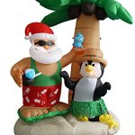 7-Foot-Inflatable-Santa-Claus-Penguin-on-an-Island-w-Palm-Tree-0-0